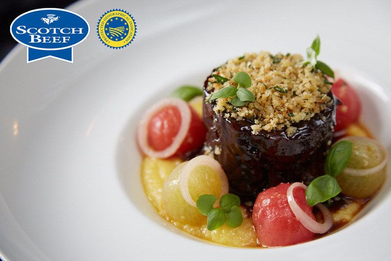 Slow-cooked blade of Angus Scotch Beef, bone marrow polenta, confit tomatoes, parmesan and lemon crumb - 2
