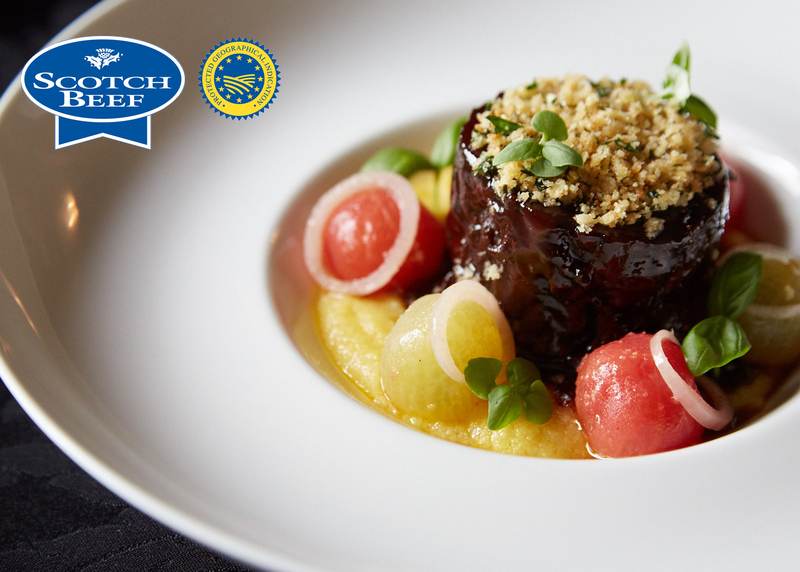 Slow-cooked blade of Angus Scotch Beef, bone marrow polenta, confit tomatoes, parmesan and lemon crumb - 5