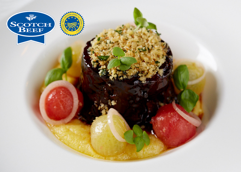 Slow-cooked blade of Angus Scotch Beef, bone marrow polenta, confit tomatoes, parmesan and lemon crumb - 6