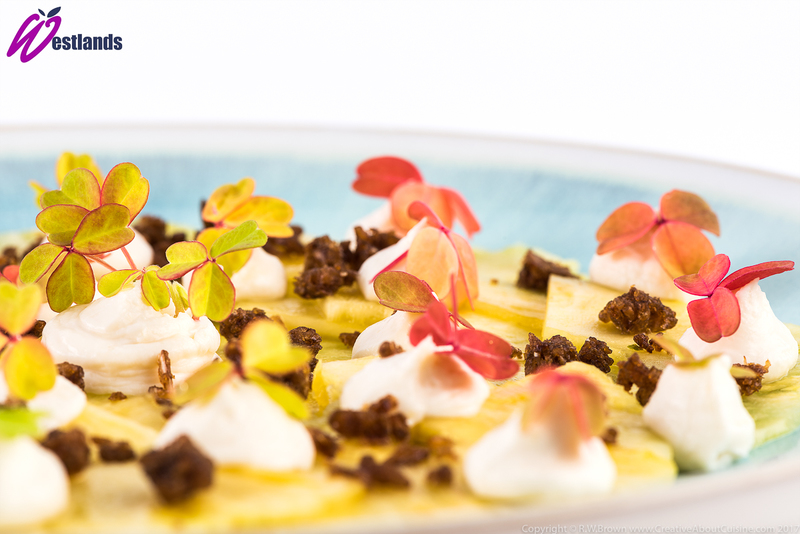 Pineapple carpaccio with maple and ginger cream and Westlands golden sorrel - 2