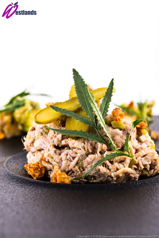 Pork rillettes with sweet and sour apple and Westlands apple Marigold salsa - 1
