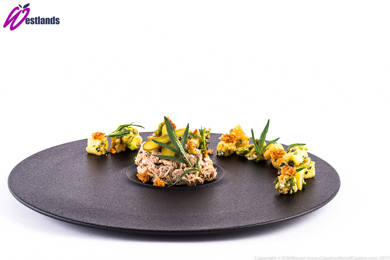 Pork rillettes with sweet and sour apple and Westlands apple Marigold salsa - 2