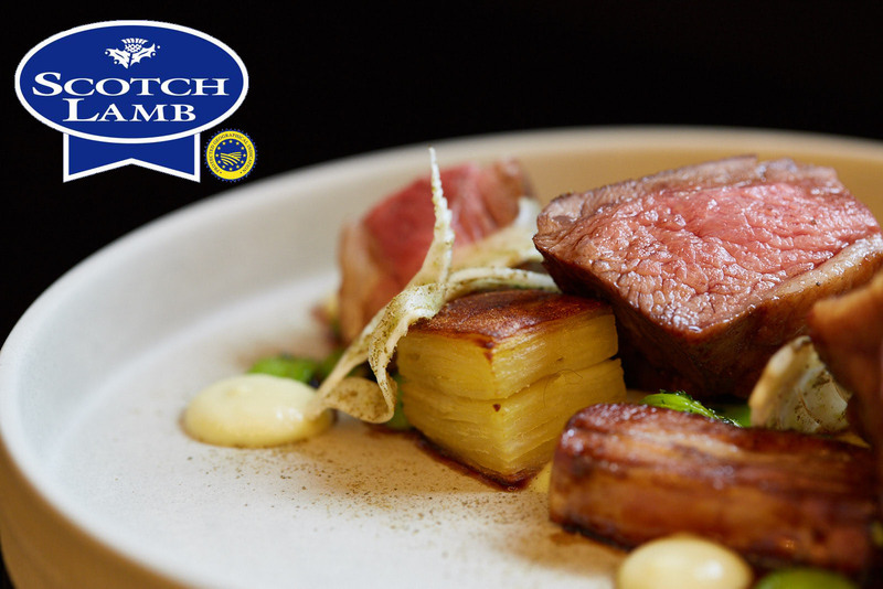 Roasted Scotch Lamb rump, slow cooked belly with potato & fennel terrine