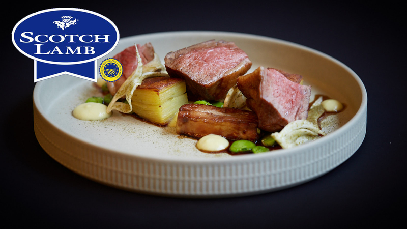 Roasted Scotch Lamb rump, slow cooked belly with potato & fennel terrine - 2