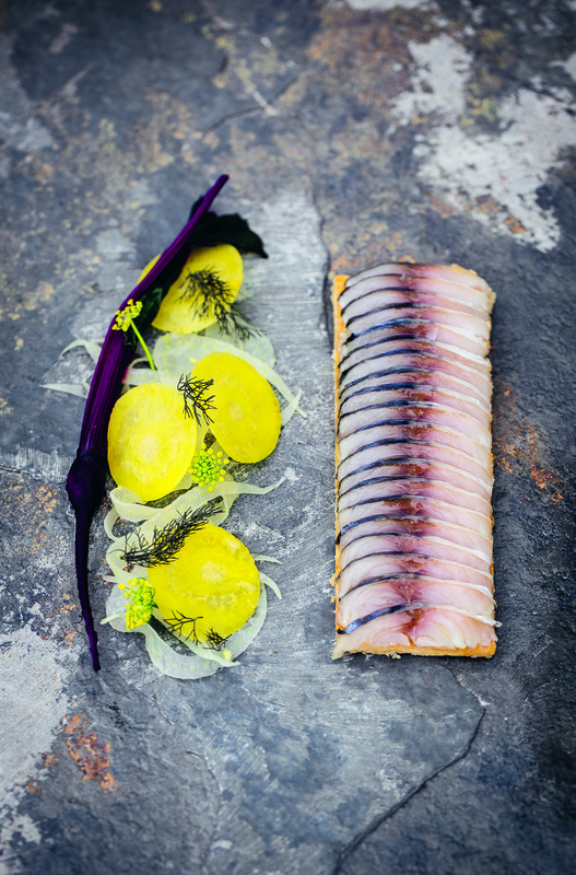 Mackerel tart with beetroot & fennel salad - 1