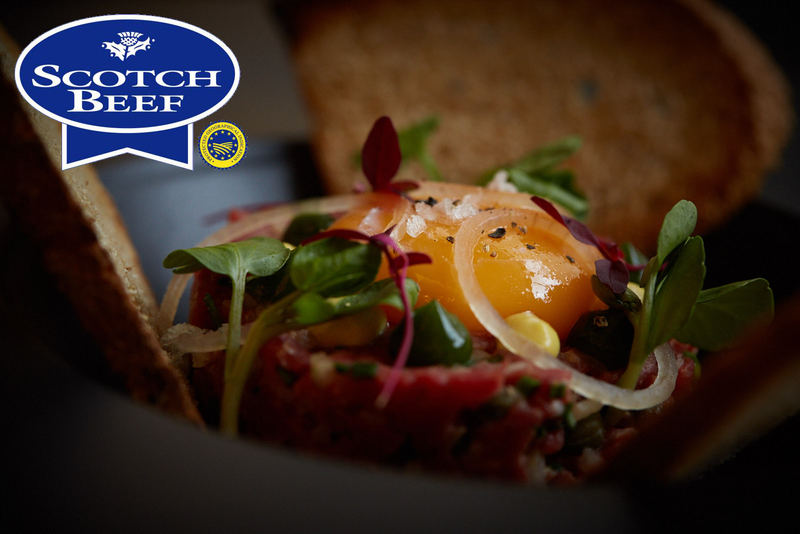 One Square Scotch Beef steak tartare with confit egg yolk, toasted sourdough and parsley gel - 5
