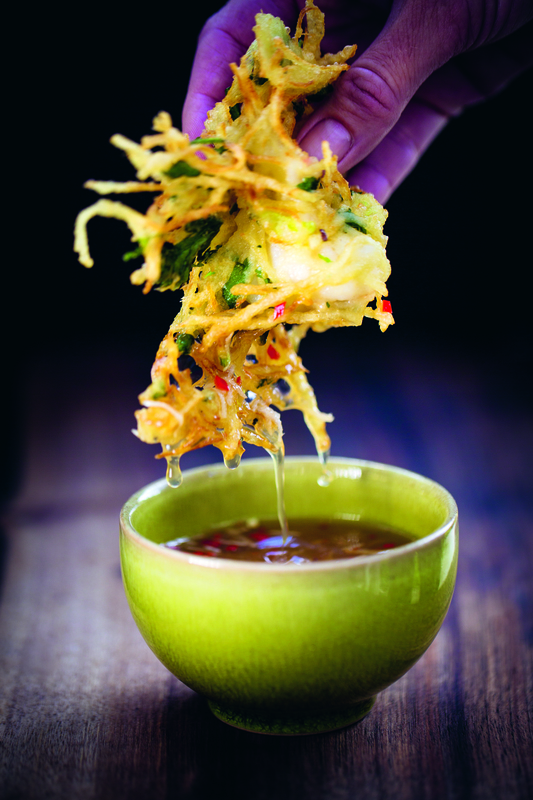 Tiger prawn & potato fritters with Vietnamese dipping sauce - 1