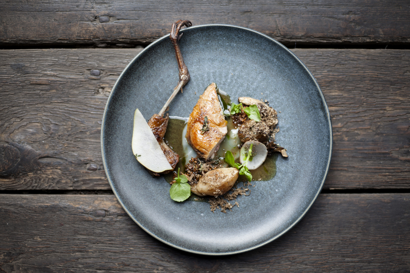 Partridge, Truffle, Jerusalem Artichoke, Watercress, Hen of the Woods