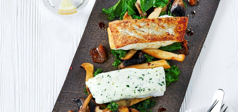 Nutaaq® Cod with kale, mushrooms and ginger