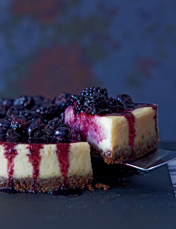 Vanilla Baked Cheesecake with Seasonal Fruits by Julie Jones