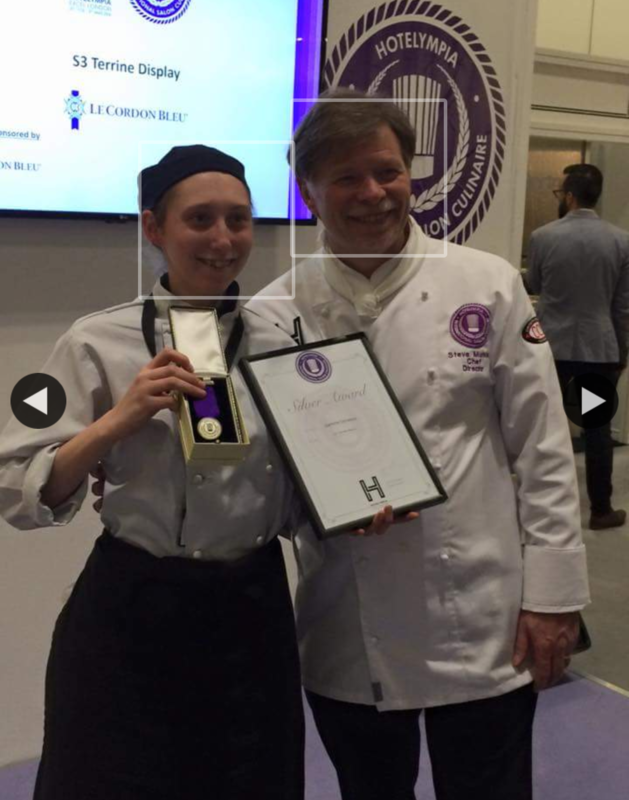 Me at the Salon culinaire for hotel Olympia at the London exCel centre - silver medallist on the static glazed and plated terrine