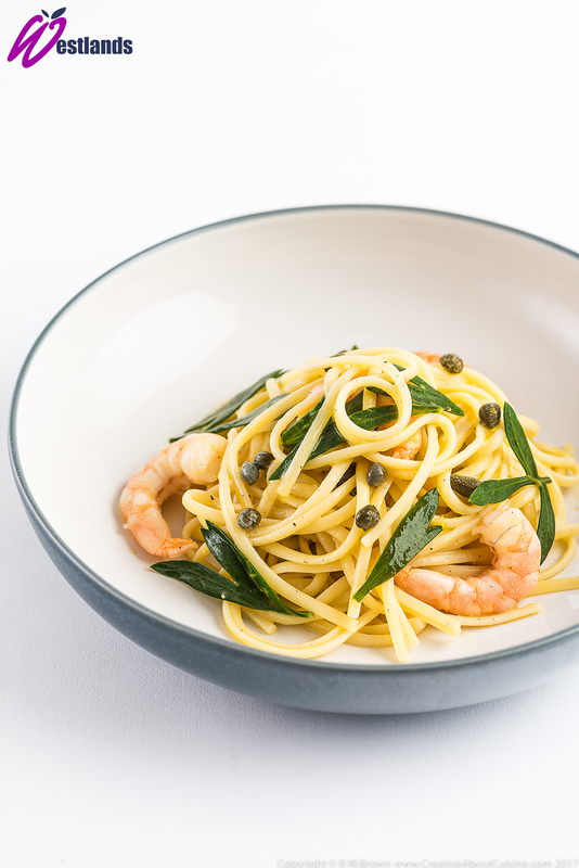 Linguine with Westlands Rock samphire, Capers and Prawns - 3