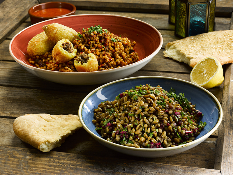 Giant couscous with lamb kibbeh