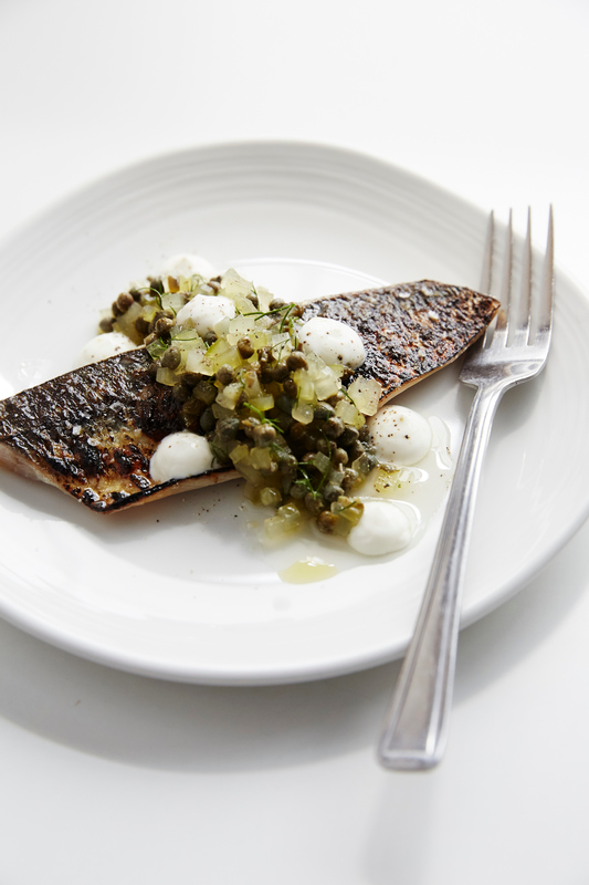 Scorched Scottish mackerel, pickled cucumber and Lilliput capers - 1