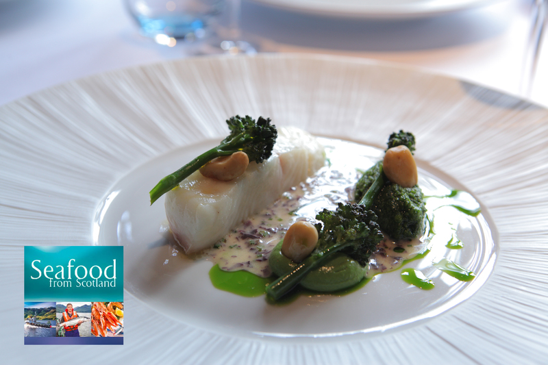 Poached Gigha halibut, smoked almond pesto and Seaweed butter sauce - 1