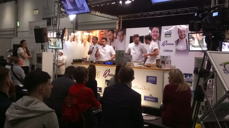 Paul cooking at #TSCLive at Hotelympia