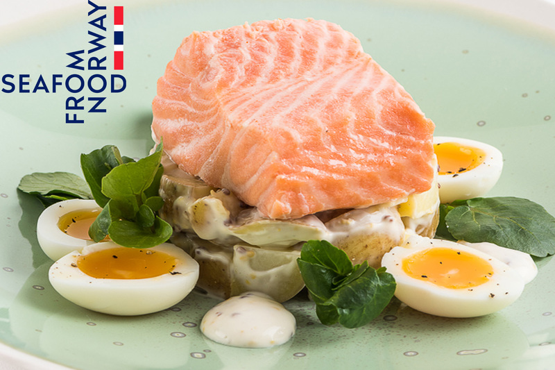 Poached Norwegian Fjord Trout with potato salad and soft boiled quails eggs - 2