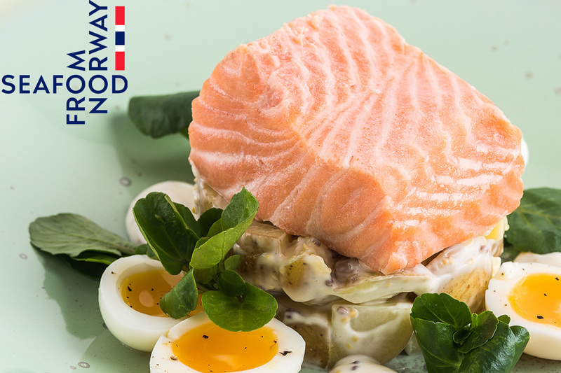 Poached Norwegian Fjord Trout with potato salad and soft boiled quails eggs - 3