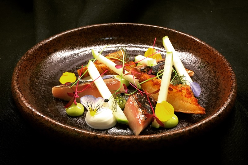 Mackerel, Dill, Yoghurt, Artichoke, Apple