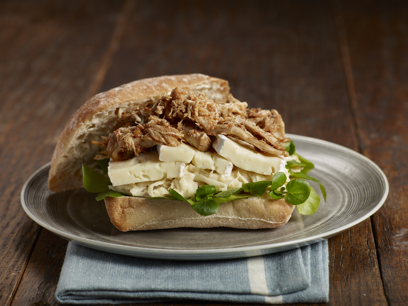 Pulled Chicken and Président Brie with Celeriac Mayo