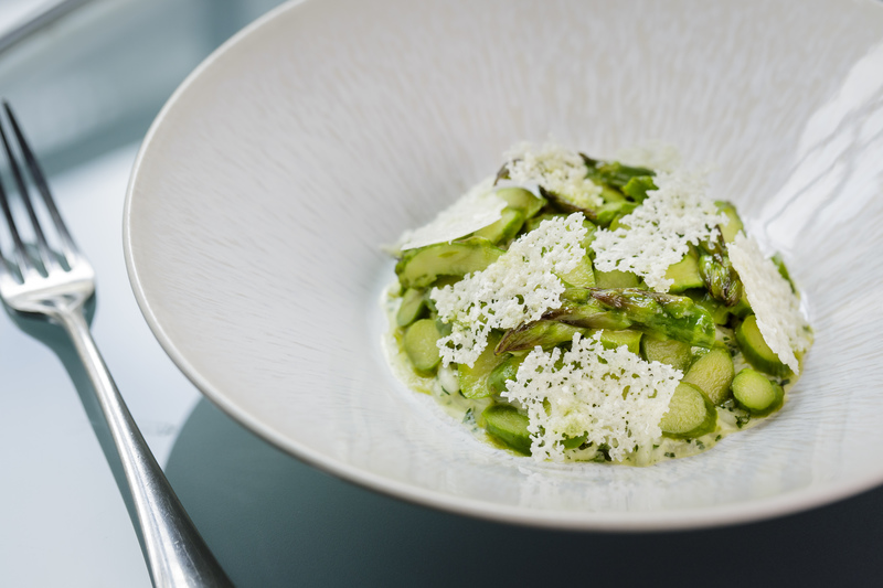 Herb risotto, asparagus, baked parmesan by Steve Groves - 3