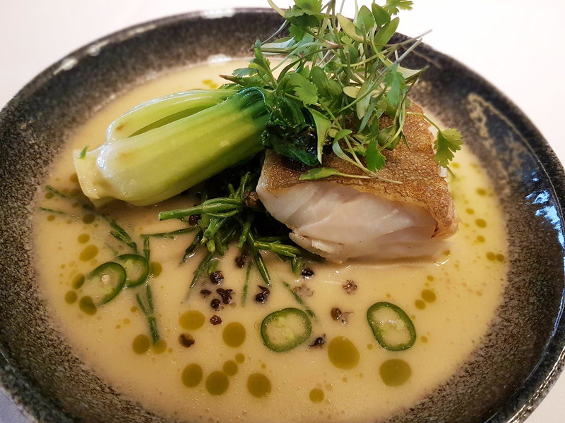 Pan-Fried Cod with Coconut and Pineapple Broth recipe by Jean-Didier Gouges - 1