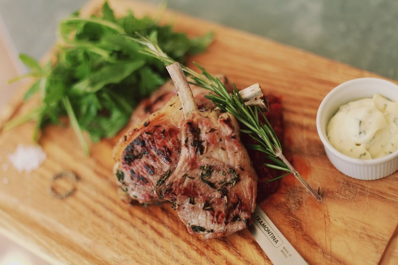 Grilled English Lamb Cutlets and  Rosemary Homemade Bacon Chutney and Watercress Salad recipe by Ronnie Kimbugwe