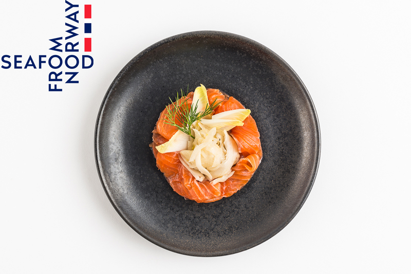 Whisky Cured Norwegian Salmon with pickled fennel by Seafood from Norway
