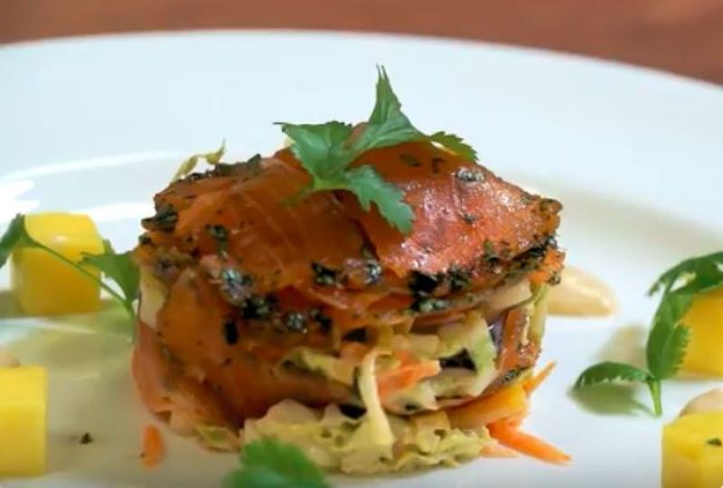 Aromatic Asian Spice Salmon Gravadlax by Essential Cuisine