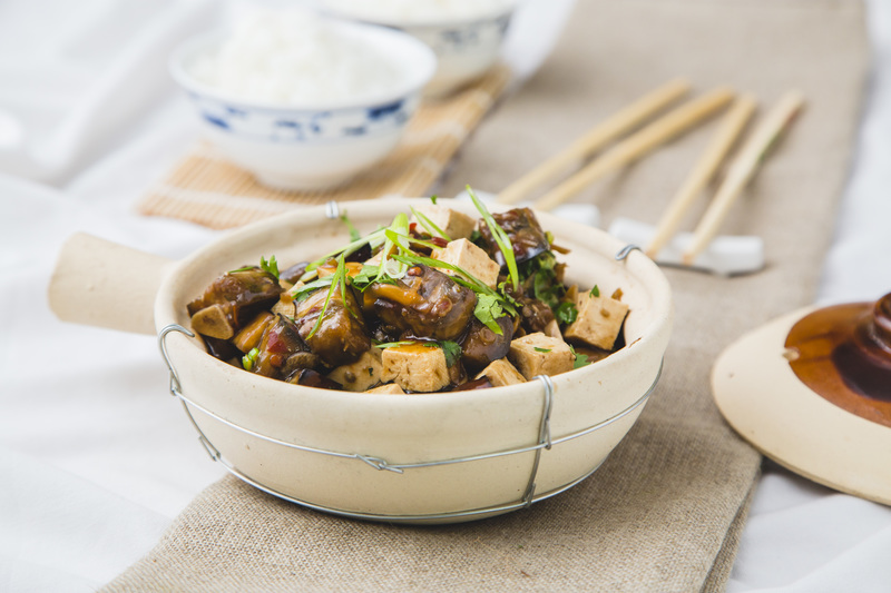 Braised Aubergine with Tofu vegetarian recipe