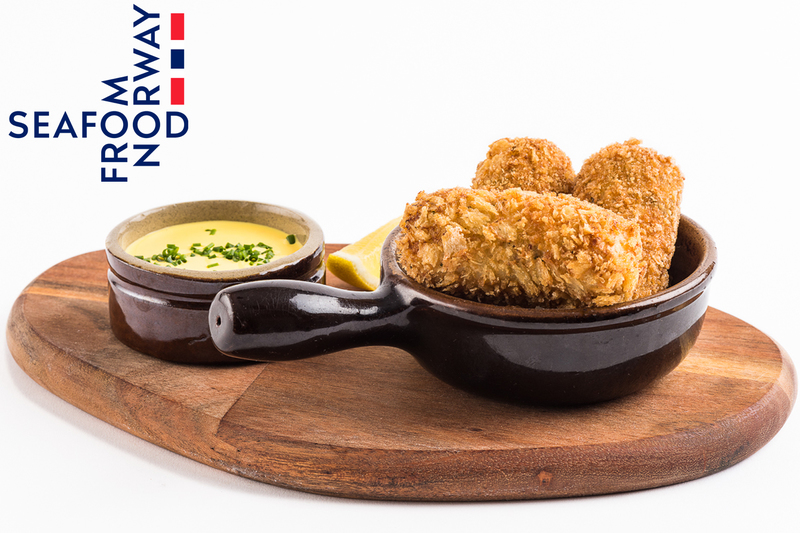 Norwegian haddock and prawn croquettes with saffron mayonnaise  by Seafood from Norway
