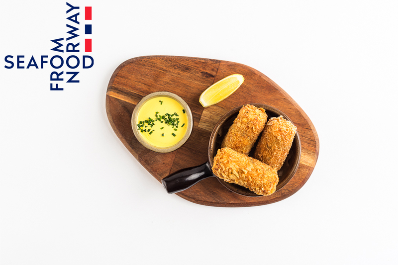 Norwegian haddock and prawn croquettes with saffron mayonnaise  by Seafood from Norway - 1