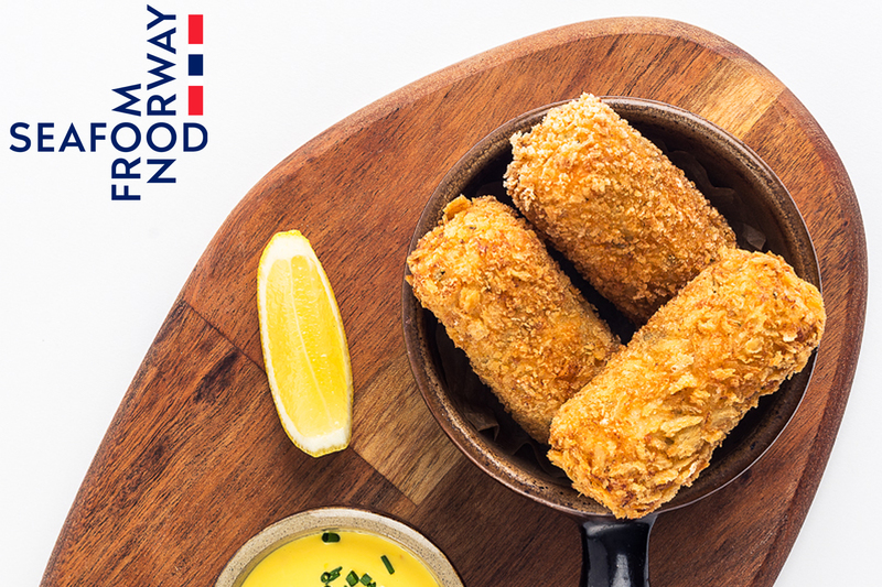 Norwegian haddock and prawn croquettes with saffron mayonnaise  by Seafood from Norway - 2