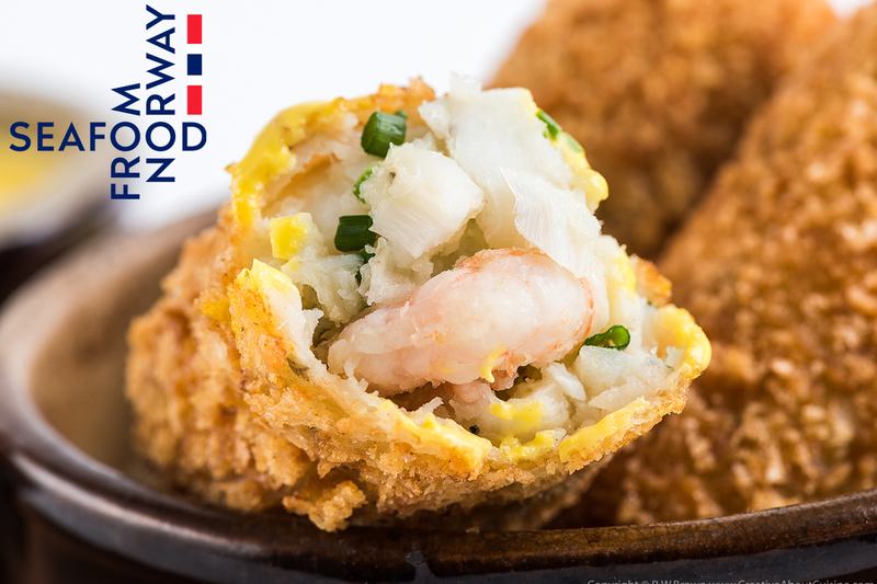 Norwegian haddock and prawn croquettes with saffron mayonnaise  by Seafood from Norway - 3