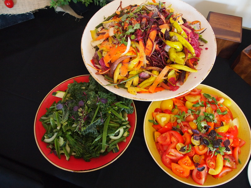 Loch fyne smoke house platter, lunch buffet with summer colours in the salads. British Grand Prix
