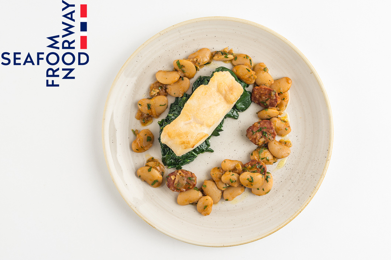 Roast Norwegian Cod with white beans and chorizo - 1