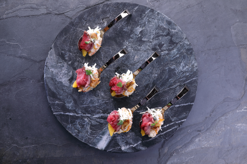 Scottish Langoustine & Scotch Beef PGI Carpaccio Canape - 1