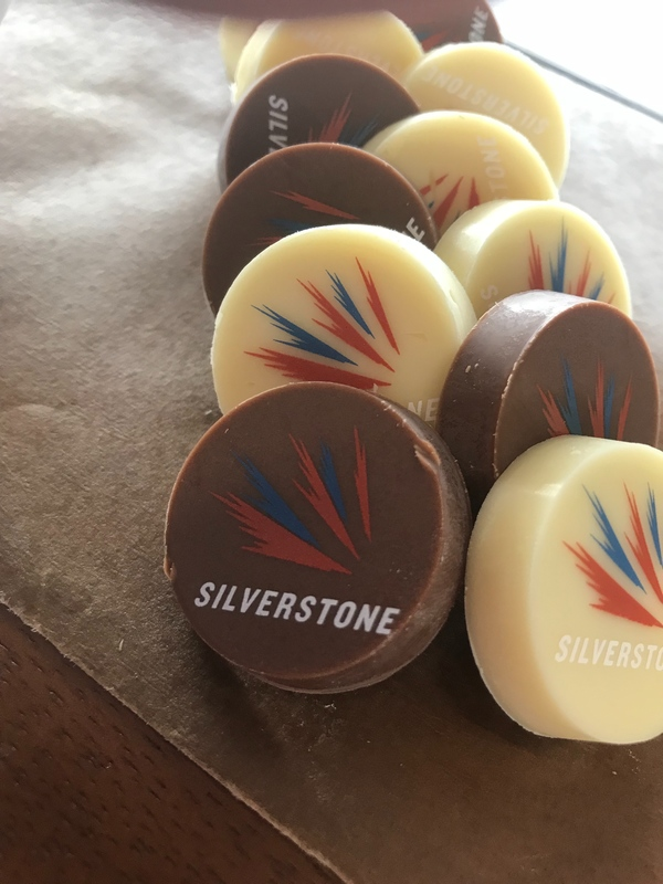 Made by hand in house. Branded silverstone chocolates for our all day grazing