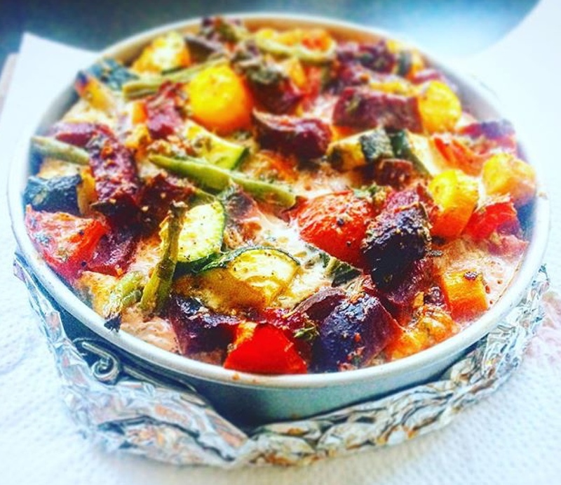 #someleftoverveggies? #pimpit! #useit! #ratatouillepie:heart_eyes::woman_tone3:‍:cooking::heart_eyes: