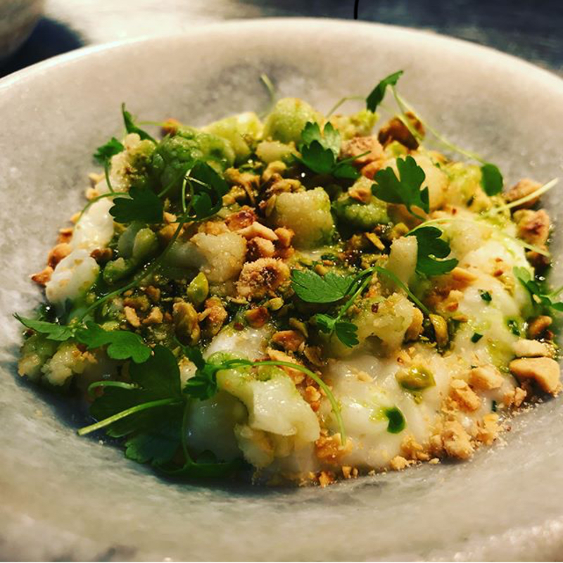Cauliflower risotto | hazelnut | chive.