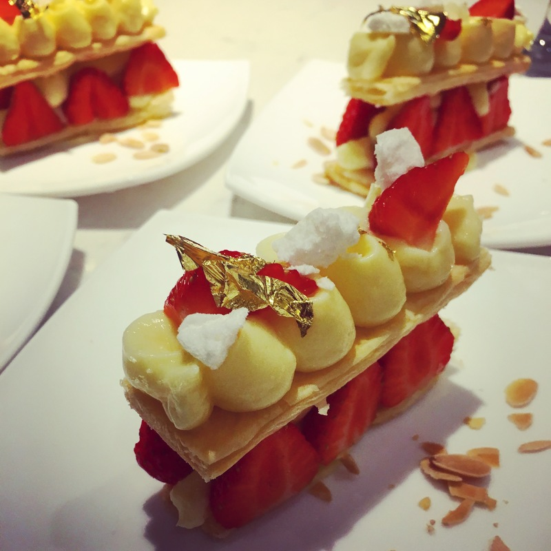 Strawberry & yuzu cream pastry millefeuille