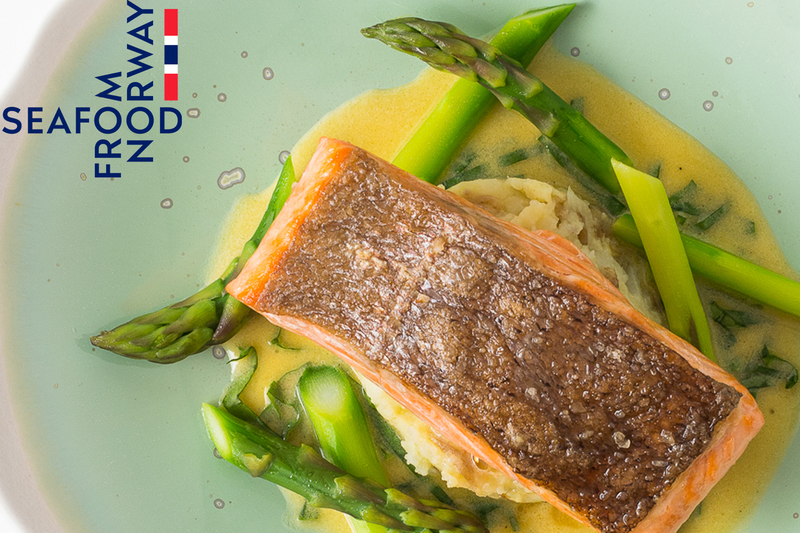 Fillet of Fjord Trout with crushed new potatoes, asparagus and sorrel sauce by Seafood from Norway - 2