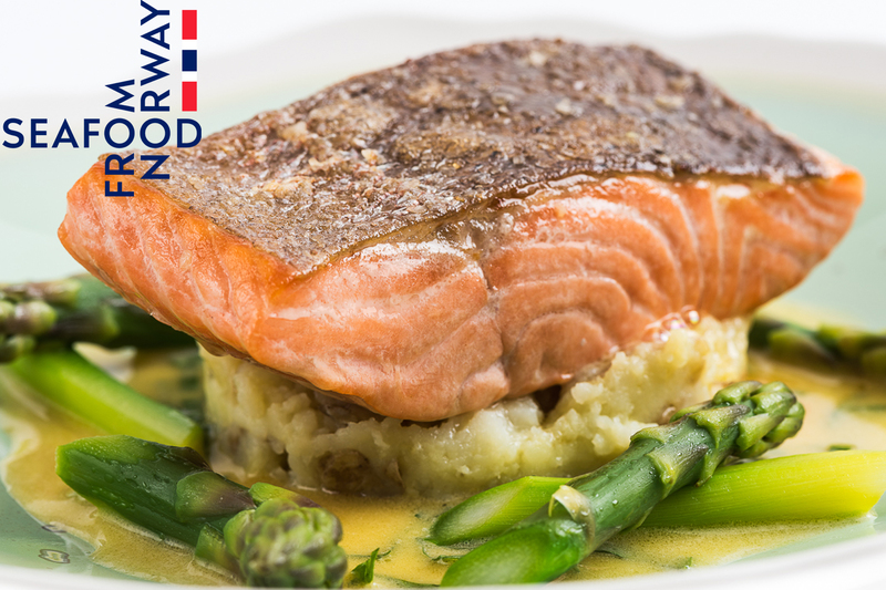 Fillet of Fjord Trout with crushed new potatoes, asparagus and sorrel sauce by Seafood from Norway - 3