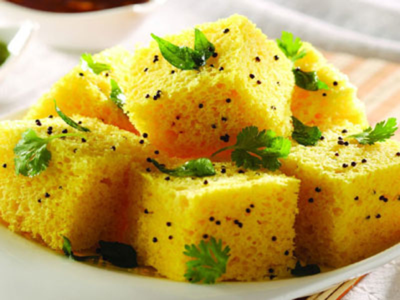 DHOKLA indian snack.