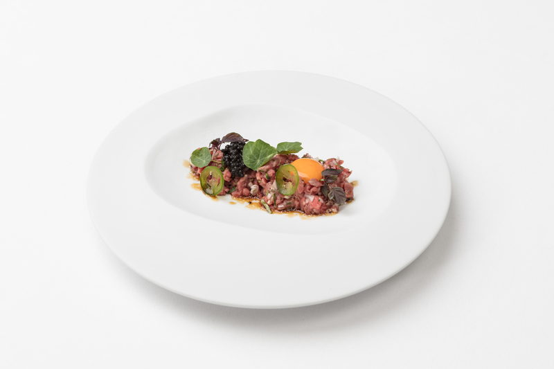 Beef tartare with Japanese dressing by Jean-Didier Gouges