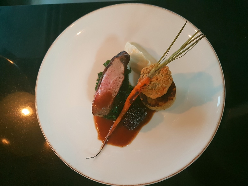 Duck, Jerusalem artichoke, potato fondant