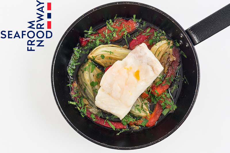 Baked Norwegian Cod With Fennel And Red Peppers