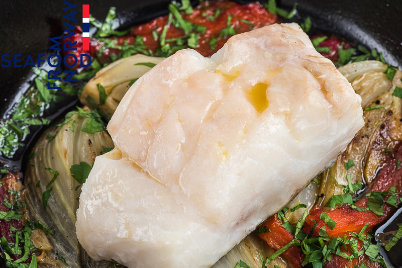 Baked Norwegian Cod With Fennel And Red Peppers - 1