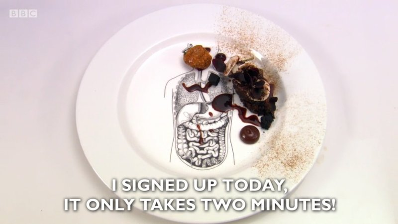 """I signed up today, it only takes two minutes!' - my starter for Great British Menu 2018"