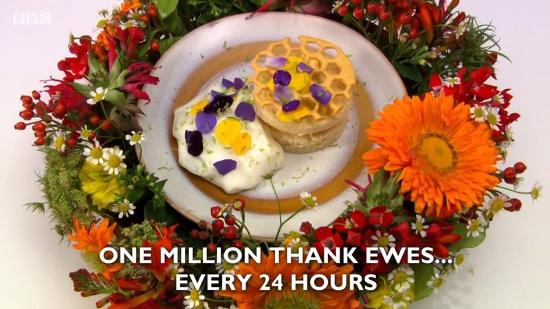 """One million thank ewes... every 24 hours"" - my dessert recipe for Great British Menu 2018"